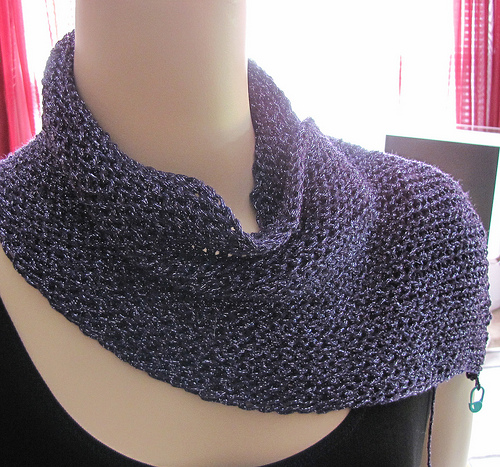 Even solid crochet can produce drape.