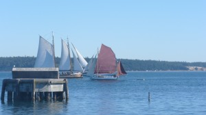 Oh yeah and there were boats at the Port Townsend Wooden Boats Festival