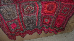 Decorative squares from 24 blocks on a Roll by Bonnie Pierce